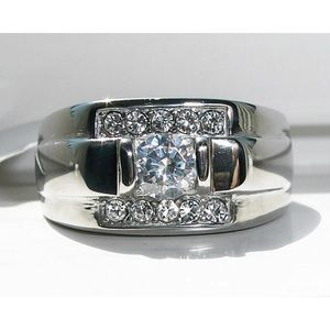 STAINLESS STEEL Men's AAA Grade CZ Ring NWT
